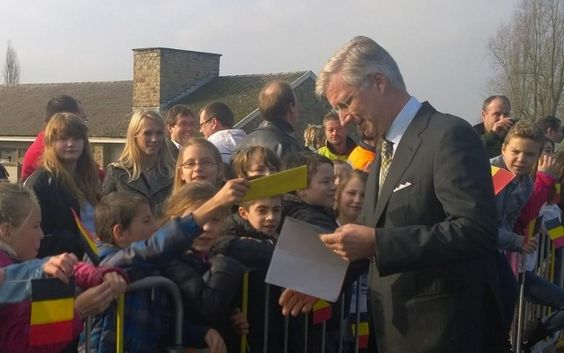 King Philippe and Queen Mathilde visit Belgian province Namur/Namen. 19/11/2014
