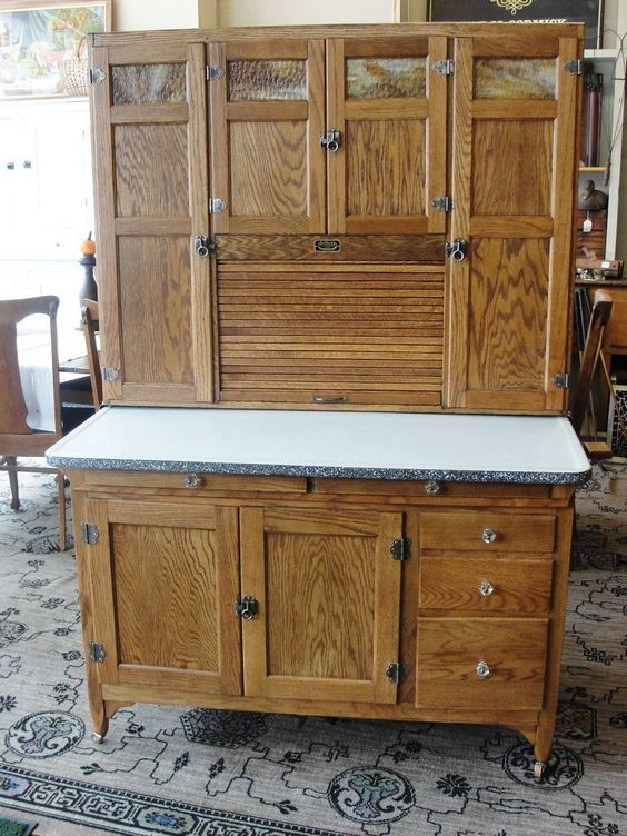 Vintage 1920 Sellers Mastercraft Oak Kitchen Cabinet Mommy