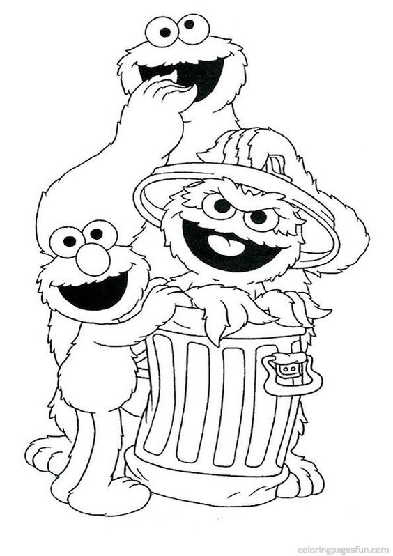 Sesame Streets Coloring Pages And Coloring On Pinterest