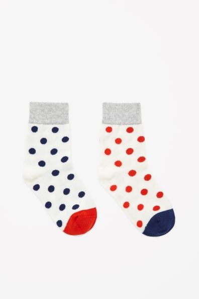 Two pairs of dotted socks