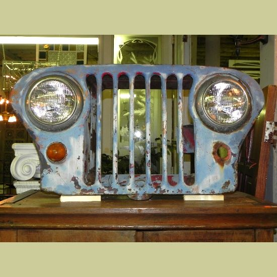 1940-50's VINTAGE FLAT FRONT WILLYS OVERLAND JEEP GRILL