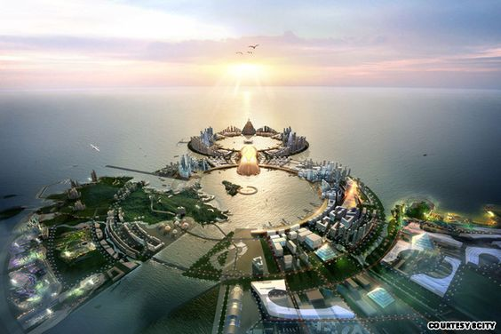 8City - a proposed 275 billion USD project to be built on the Yongyu-Muui island in South Korea