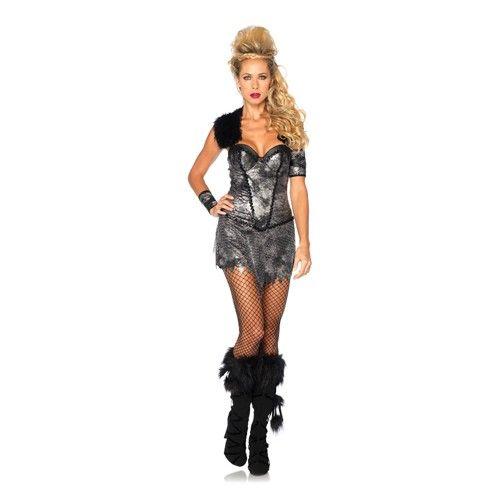 Strijders kostuum bestaande uit twee delen, namelijk een glanzende jurk met beugel BH inzet, bonten schouder accenten en bijpassende manchetten. In dit kostuum ben jij klaar voor de strijd!  Laat zien wie je bent tijdens verkleedfeestjes.  Exclusief netpanty en laarzen.  Materiaal: 100% polyester  Maat: S - M - L  Bekijk het hele assortiment in onze webwinkel vinley Voor 22u besteld, morgen in huis. Vanaf €25,- gratis levering.