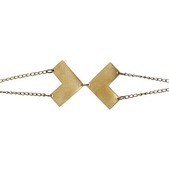 brass vertex bracelet by ofmatter on Etsy, $28.00