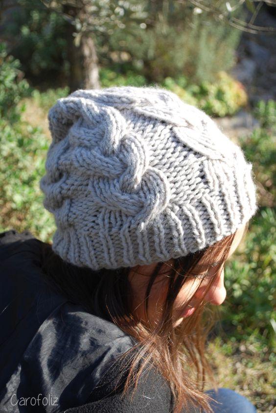 Bonnet torsades au tricot tricot pinterest c ble tricot et crochet et chapeaux - Faire une boutonniere tricot ...