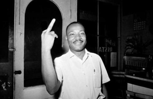You think you've seen everything. Then someone shows you a picture of MLK flipping off a camera....