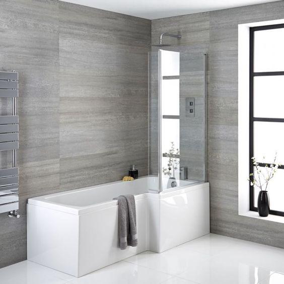 Badewanne Mit Duschabtrennung Und Verkleidung 1700mm Rechtsbundig