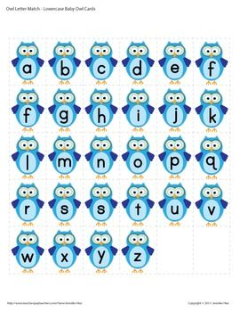 OWL LETTER MATCH FREEBIE FOR PRESCHOOL AND EARLY CHILDHOOD - TeachersPayTeachers.com