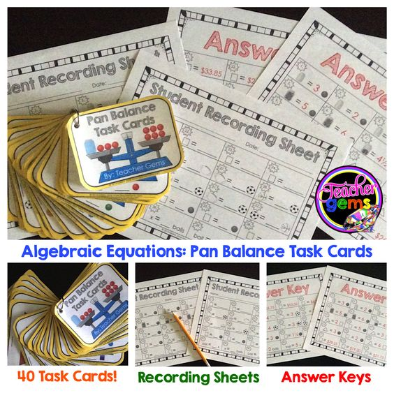 Common Worksheets » Pan Balance Equations - Preschool and ...