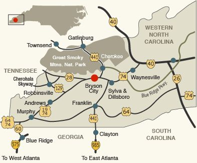 Map Of Cherokee Nc And Surrounding Areas Pictures To Pin