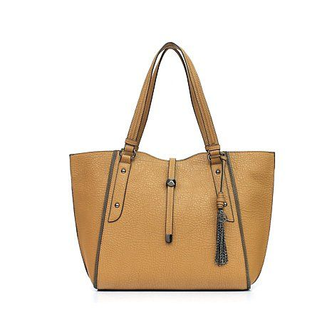 "Jessica Simpson ""Sienna"" Pebbled Faux Leather Tote; $118"