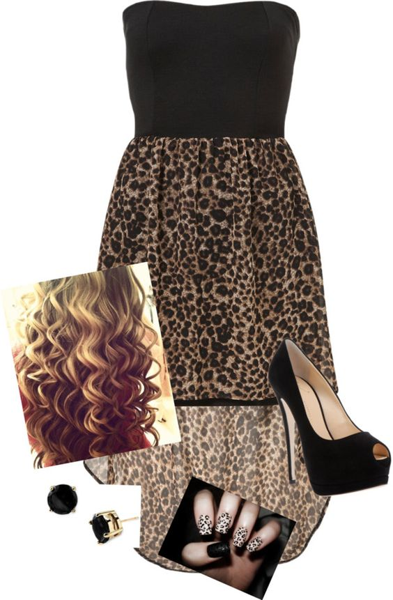 """""""Leopard Lovin'"""" by musicalmallory on Polyvore"""
