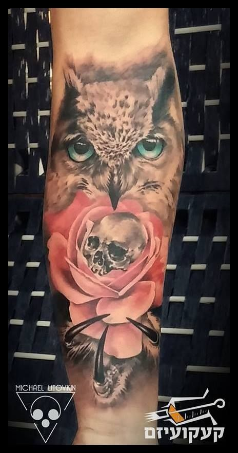 color realism owl tattoo - Google Search