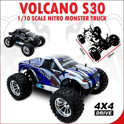 Redcat Racing ~VOLCANO ~ S30 ~ 1/10 Scale ~ RC Nitro Monster Truck ~ BLUE best rc truck for racing Best Discount Offer Reviews Price: $198.99