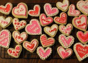 My sugar cookie valentines for my husband last Valentine's Day