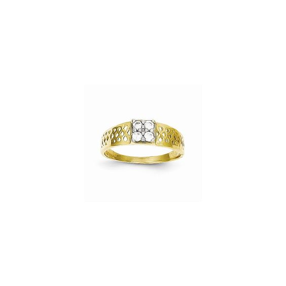 10k Yellow Gold CZ Baby Ring
