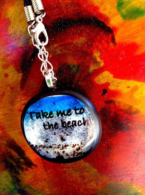 Take me to the beach Beach necklace handmade beach by Krystoney, $19.99