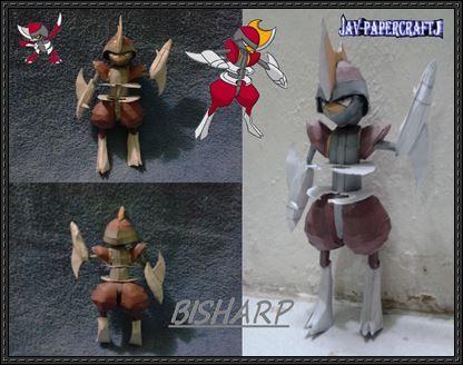 Pokemon - Bisharp Ver.2 Free Papercraft Download - http://www.papercraftsquare.com/pokemon-bisharp-ver-2-free-papercraft-download.html