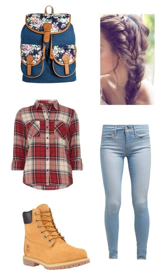 """Fall - Causal"" by delaneygrove ❤ liked on Polyvore featuring Levi's, Dorothy Perkins, Timberland and Bueno"