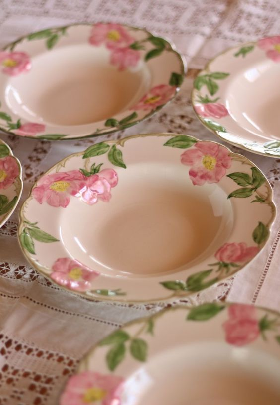 You won't believe where I found these original Franciscan Desert Rose soup bowls!