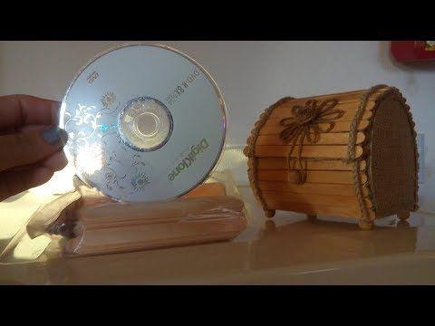 Bau Porta Joias Artesanato Recicle Ideias Com Cds Velhos E