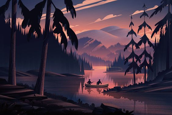 One of the most enjoyable projects I get to take on from time to time is editorial illustrations for Field & Stream magazine. The reason I love working on these so much is it affords me the opportunity to create quiet moments of stillness in the wilderness, showcasing the beauty of our world and