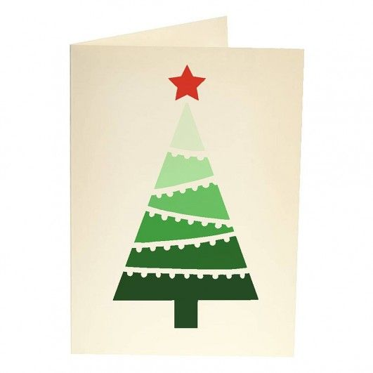 Christmas Tree With Lights Card Stencil Template Christmas Stencils Homemade Christmas Cards Christmas Cards Handmade