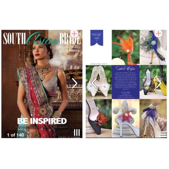 Wedding Magazine Subscription Gift: Featured In South Asian Bride Magazine. Peacock & Feather