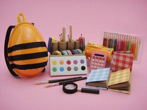 12 Diy Miniatures Mini Stationery School Supplies For Barbie