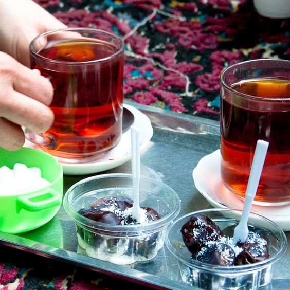 Tea and dates by mi), via Flickr