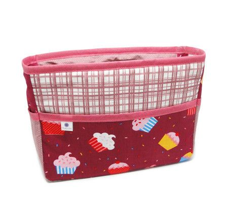 Refil para bolsa - cupcakes roxo com rosa