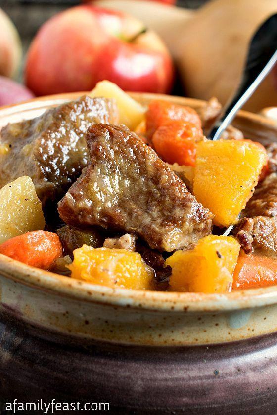 Autumn pork apple stew recipe