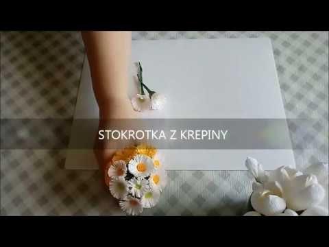 Kwiatek Z Krepiny Do Palmy Wielkanocnej Stokrotka Flower Diy Youtube Paper Flowers Diy Flowers Crepe Paper