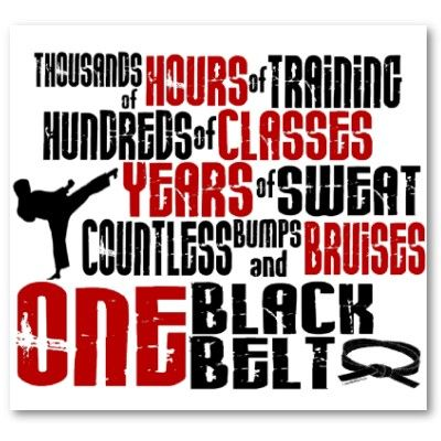 Anyone can buy a black belt from any martial arts store... but it doesn't mean anything without the training to back it up.