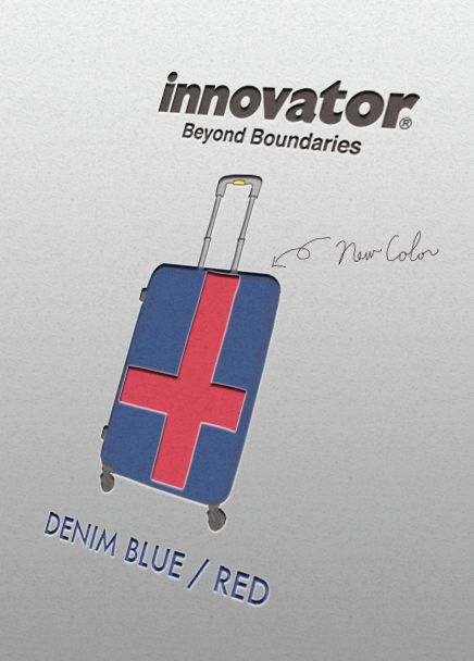 innovatorスーツケース 新色「MATTE NAVY/RED」が登場! http://www.trio1971.com/innovator_info/index.html