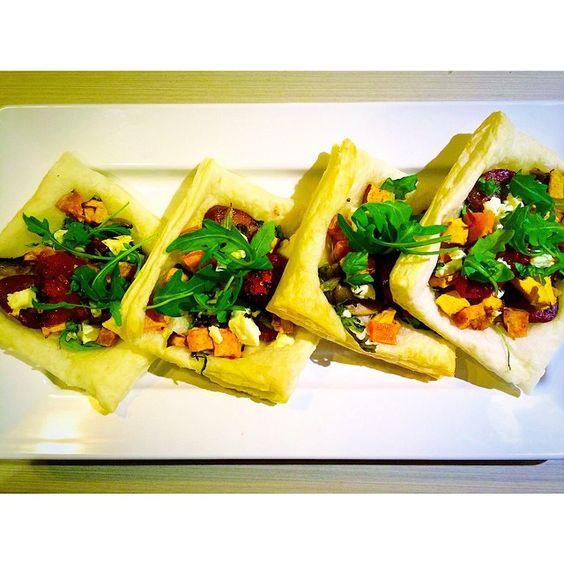 Tonight's dinner... Chorizo rocket pumpkin sweet potato sun-dried tomato & feta tarts  #chef #savoury #creations #gourmet #healthy #organic #fresh #natural #rocket #basil #spinach #feta #pumpkin #chorizo #sweetpotato #sundriedtomato #mushroom #healthyeating #lifestyle #fitness #bbg #kaylaitsines #kaylasarmy by fithealthyfriends
