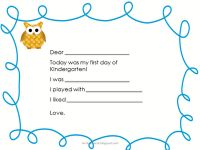 Fill in this 1st day of school form so parents know how their child's day went!