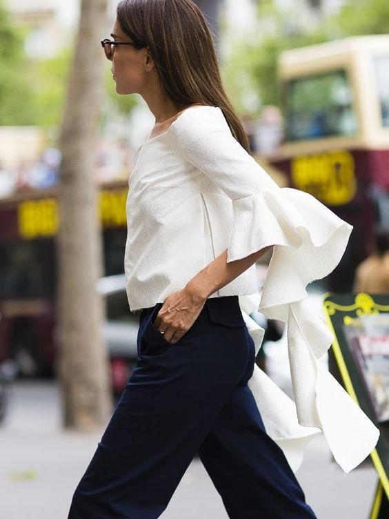 Evangelie & her epic sleeves. Paris. #StyleHeroine: