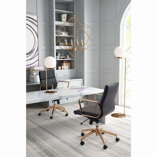 Zuo Modern Enterprise Office Chair White Gold Office Chair Gold Office Decor Zm Home