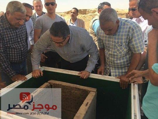 وزارة الاثار بالصور اكتشاف مقبرة فرعونية بمنطقة اثار دهشور