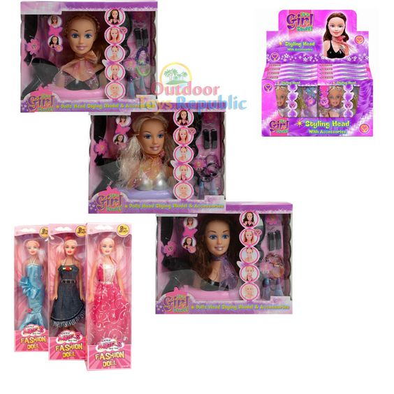 Doll Styling Head Hairdressing Toy Model Hair Accessories Girls Beauty Play Set   eBay