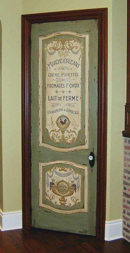 Decorare Una Porta Con Decoupage Dipingere Una Porta Porta Interni Fai Da Te Decorazioni