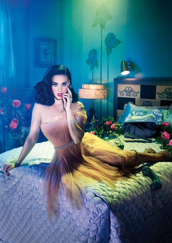 The interior and the lights are amazing in this fashion photo by David LaChapelle