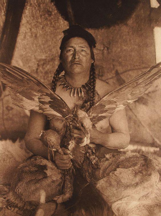 "Edward Sherif Curtis (1868-1952) ""Placating the Spirit of a Slain Eagle - Assiniboin"", 1926"
