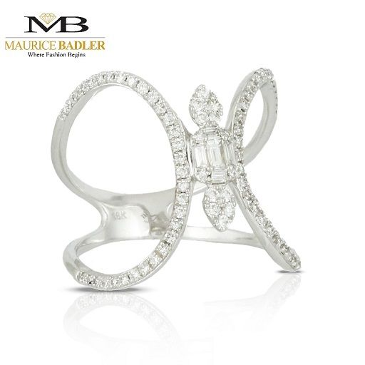 Diamond Ring That Maximizes The Use Of Negative Space. Www
