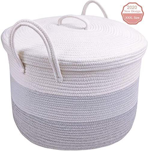 Best Seller Oldpapa Large Cotton Rope Basket Lid 19 6 19 6 12 9