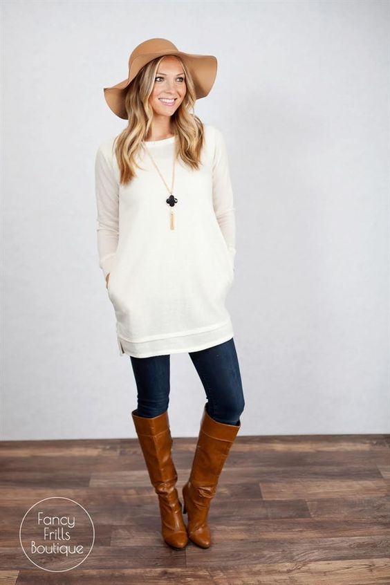 Winter White Tunic Sweaters 89