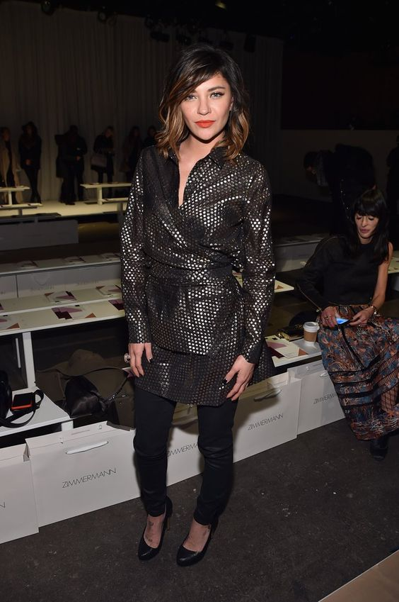 Pin for Later: Les Stars Sont au premier Rang Pour la Fashion Week de New York Jessica Szohr Au défilé Zimmermann.