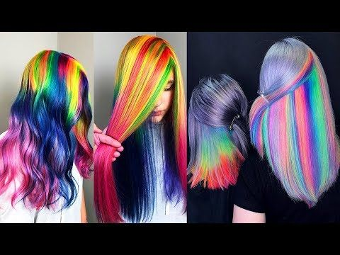 Best Hair Color Transformation Rainbow Hair Tutorialscompilations Youtube Vibrant Hair Colors Hair Color Tutorial Hair Color