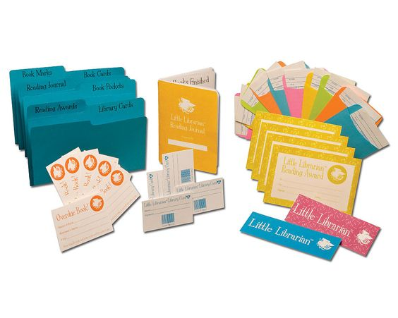 The Little Librarian Kit.  I don't have children ... but I really did want to be a librarian when I was little.  I wanted the little manila envelopes and I would have swooned for a date stamp.  I'm a nerd.  I own it.